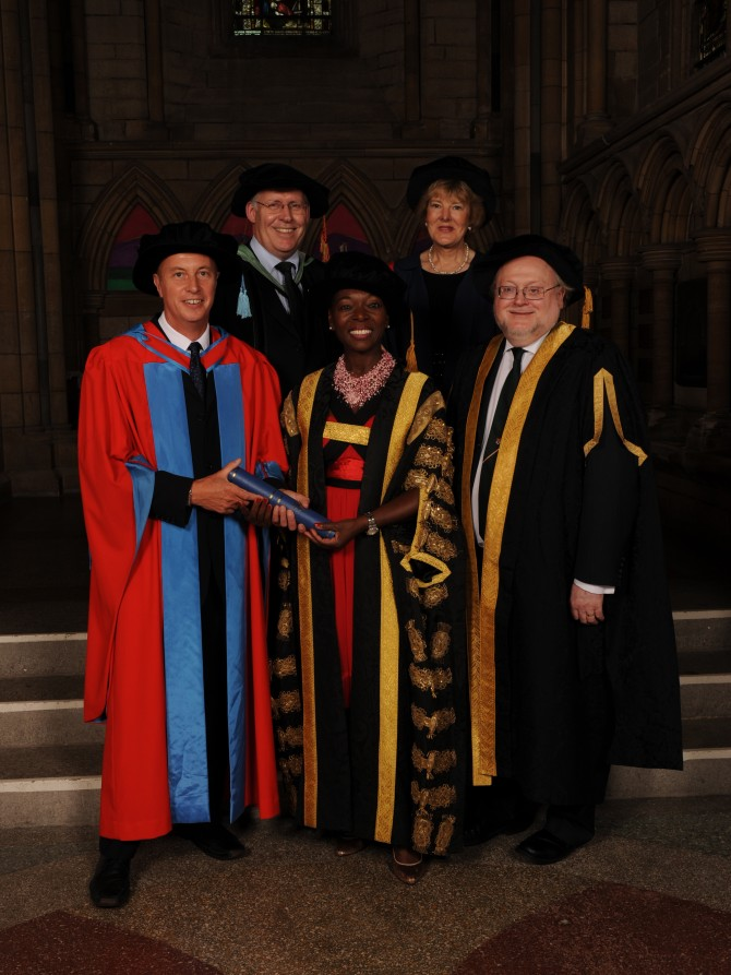 Neil Canning receiving Doctorate from Exeter University